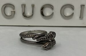 Gucci Sterling Double Snake Ring - Amazing Two Filigree Snakes Coiled Together