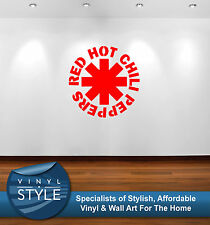RED HOT CHILI PEPPERS LOGO DECOR STICKER WALL ART GRAPHIC VARIOUS COLOUR