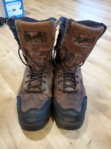 """Danner Mens Pronghorn 8"""" RealTree Xtra 1200G Insulated Leather Hunting Boots"""