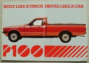 FORD P100L PICK UP Sales Brochure c1985 #1/307