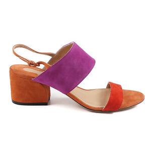Salvatore Ferragamo 'Elba 55' Colorblock Suede Sandal 8 B NIB $595 Shoes