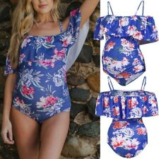 Women's Maternity Tube Top print Bikini Swimwear Swimsuit Bathing Suit Beachwear