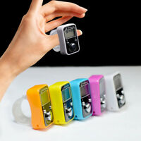 Digital Sport Finger Counter Ring With Time Electronic Clock Time Manual Counter