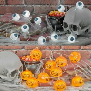 20 Halloween LED String Lights Battery Operated Indoor Party Decor Outdoor Event