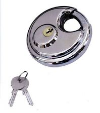 2 Pack Round Padlock with Shielded Shackle, 2-3/4-inch, Stainless Steel