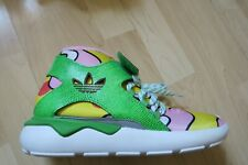ADIDAS X JEREMY SCOTT JS TUBULAR GREEN YELLOW PINK TRAINERS SIZE 6.5
