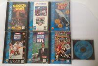 Lot of 7: SEGA CD Vintage Games Tomcat Alley NFL Surgical Strike NHL Sewer Shark