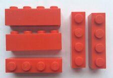LEGO 3010 Rouge lot de 5 Brique Poutre 1x4 Brick Red
