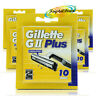 5x Gillette G2 GII Plus Replacement Shaving Comfort Razor Blades