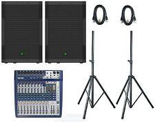 Mackie SRM550 Soundcraft signature 12 complete active Pa System speakers srm 550
