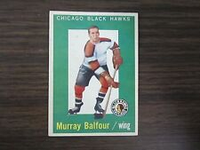 1959-60 Topps # 33 Murray Balfour Card (B23) Chicago Blackhawks