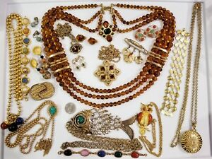 Vintage Mod Jewelry LOT Erwin Pearl Jay Strongwater LCI Coro Sarah Coventry Avon