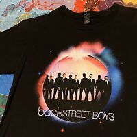 Backstreet Boys Tour T Shirt Womens Adult Small Black Boy Band Music Concert Pop