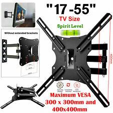 TV Wall Bracket Mount Tilt And Swivel For LED LCD 3D 17 22 30 40 50 55 Inch