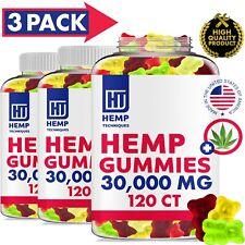 360 CT 30000 MG Hemp Gummies for Pain & Anxiety Fruity Gummy Bears with Hemp Oil