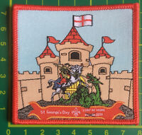 At George's Day Stay At Home 2020 Badge Patch Scouts Guides Sew On Camp Blanket