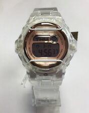 83d75a7dc626 CASIO G-SHOCK Baby-G Clear Resin Rose Gold Digital Running WATCH BG169G-