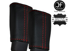 RED STITCH 2X FRONT SEAT BELT LEATHER COVERS FITS MINI COUNTRYMAN R60 2010-2015