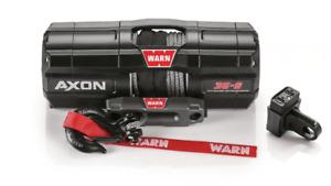 Warn AXON 35-S ATV Winch - 15m Synthetic Rope 2135743397999