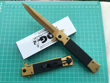 SOG Assisted Opening Golden Folding Pocket Knife Camping Fishing Survival Gift