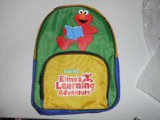 ELMO'S LEARNING ADVENTURE BACK PACK SESAME STREET