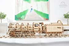 UGears Mechanical Models 3-D Wooden Puzzle - Steam Locomotive Train Engine
