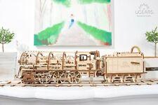 Locomotiva Ugears con Tenero Puzzle 3d realizzato in compensato Kit senza Colla
