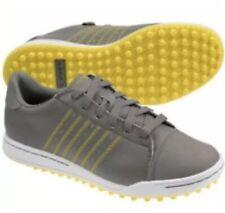 Adidas Adicoss Jr Golf athletic sneakers shoes boys mens 6 gray yellow