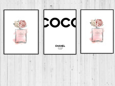 SET OF 3 COCO CHANEL No.5 PARFUM A4 PRINTS