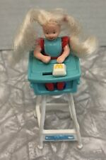 Vintage 1998 Mattel Barbie McDonald's Toy Kelly In High Chair
