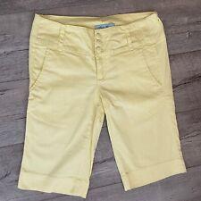 Beta House Jeans Size 2 Bermuda Shorts Pants Pastel Yellow