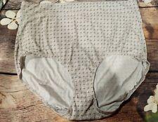 size 10/3XL #5738 Warner's No Pinching no muffin top full BRIEF PANTY, polka dot