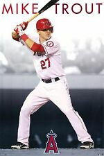 """ANGEL MIKE TROUT POSTER PRINT POP CULTURE BASEBALL SPORTS 24""""x36"""" NEW"""