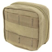 Condor MA77 TAN 4x4 Utility Pouch MOLLE Tool Bag Removable Vinyl Pocket