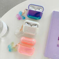 For AirPods 1&2 Pro Luxury Glitter With Butterfly Pendant Earphone Case Cover