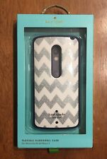 Case for Motorola Droid Maxx 2 Kate Spade New York Hardshell Chevron Silver