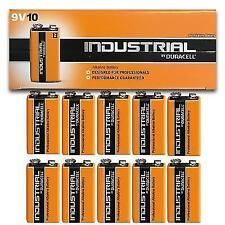 10 X Duracell 9v Industrial Pp3 Batteries Smoke Alarm Lr22 E-bloc Mn1604