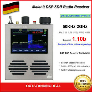 Malahit-SDR Receiver DSP Radio Receiver 50KHz-2GHz Official Authorization Ver DE