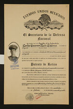MEXICAN PRESIDENT LAZARO CARDENAS AUTHENTIC HISTORICAL SIGNED DOCUMENT 1944