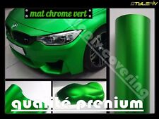 Film vinyle covering mat vert satin effet chrome 152 x 30 cm thermoformable
