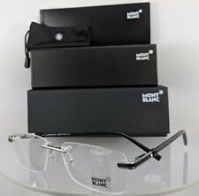 New Authentic MONT Blanc Eyeglasses MB 679 016 Black & Silver Frame 56mm 0679