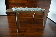 Minimaliste chêne bois indoor bench-rembourré gotland en peau de mouton tapis - 1