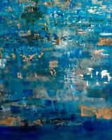 Original abstract expressionism painting, 24X36 canvas contemporary textured.