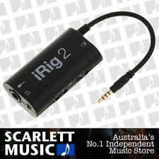 IK Multimedia iRig2 Guitar Interface for iPad & iPhone iRig-2 w/12 Mths Warranty
