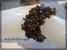 Gemstone Cuff Bracelet~ Natural Tigers Eye~Browns