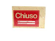 CARTELLO IN PLASTICA - CHIUSO - 17x11cm