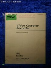Sony Bedienungsanleitung SLV E300VC /CP Video Cassette Recorder (#2952)