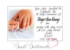 Pack of 10 Personalised 1st Holy Communion Invitations - A6 style Glossy card