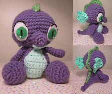 "Handmade Amigurumi Crochet spike dragon from My Little Pony 7"" plush doll"