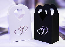 Sample White Silver Wedding Cake Favour Boxes, Anniversary, Engagement x 1 Pair